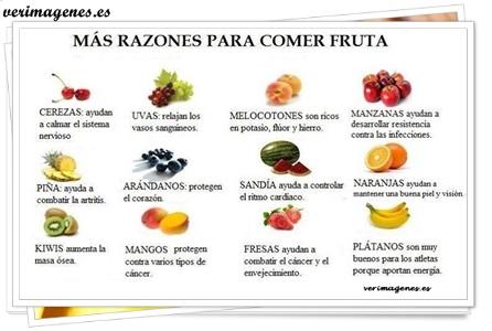 Mas razones para comer fruta