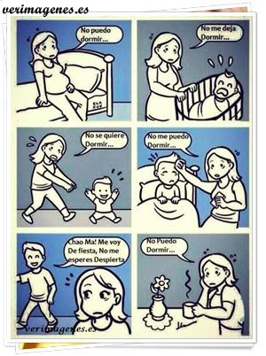 Momentos que puede dormir una madre