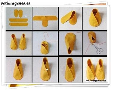 Zapatillas en forma de botin