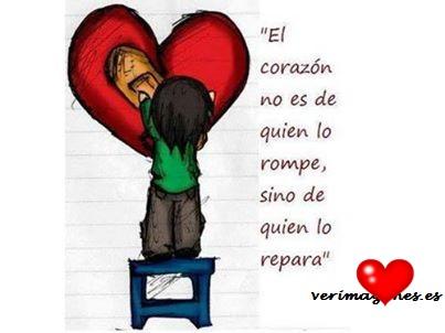 El corazón no es de quien lo rompe