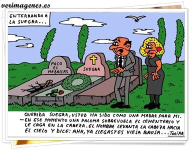 Enterrando a la suegra