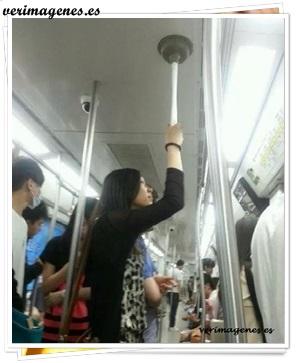 Solución para ir de pie en el bus