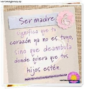 Ser madre significa