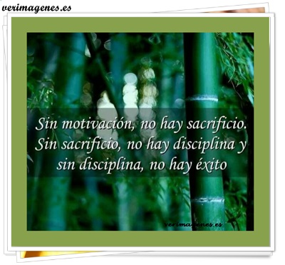 Sin motivación, no hay sacrificio.