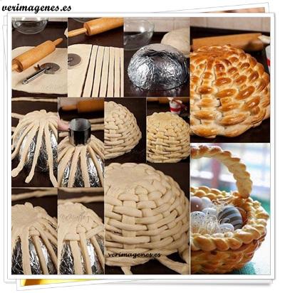 Cesta confeccionada de pan