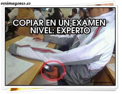 Copiar en un examen, nivel: experto