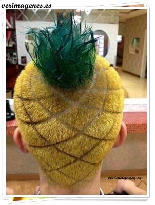 Peinado en forma de piña