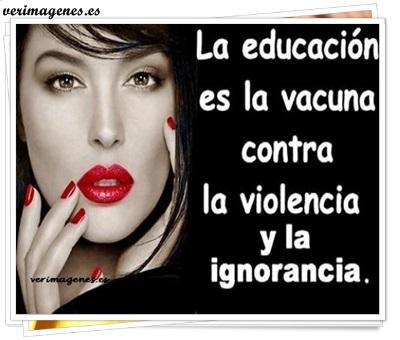 La educación es la vacuna