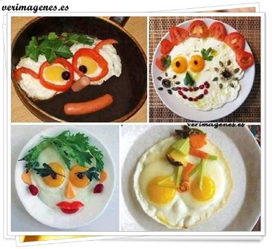 Decoración de platos con huevos fritos