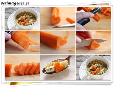 Corazones con zanahoria