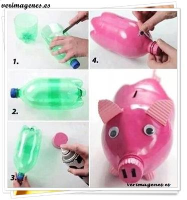 Imagen Hucha con botellas de plastico