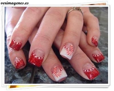 Diseño de uñas para navidad
