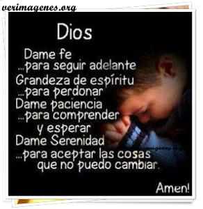 Dios, dame fe para seguir adelante