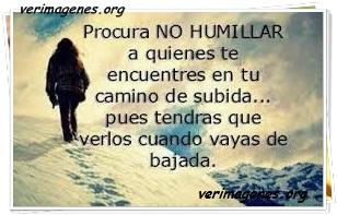 Procura no humillar a quien te encuentres