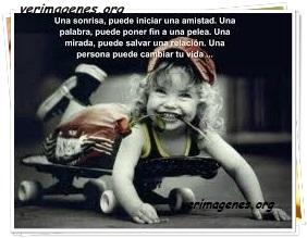 Una sonrisa, puede iniciar una amistad