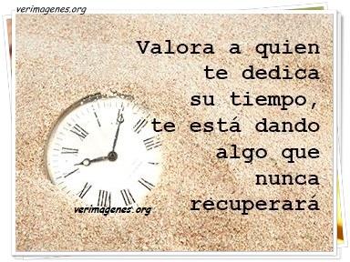 Valora a quien te dedica su tiempo