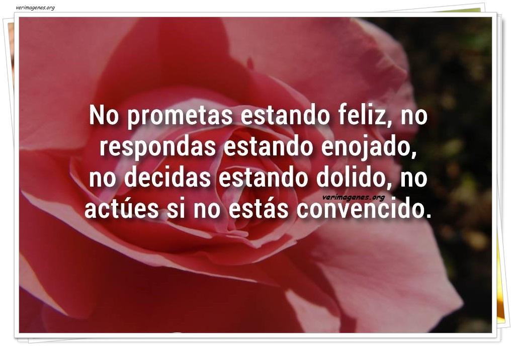 No prometas estando feliz