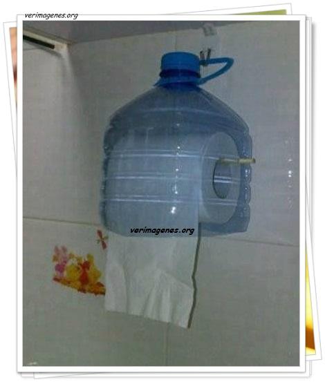 Porta rollo de papel higiénico reciclado