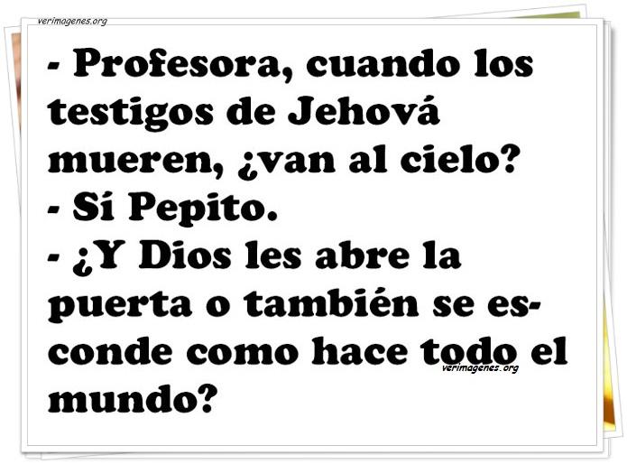 Profesora,cuando los testigos de jeová se mueren