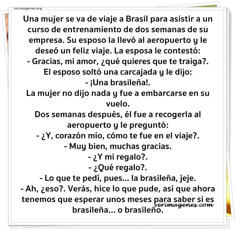 Una mujer se va de viaje a brasil