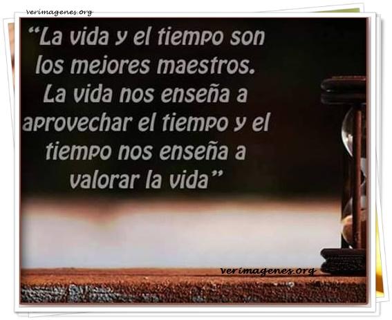 La vida y el tiempo son los mejores maestros