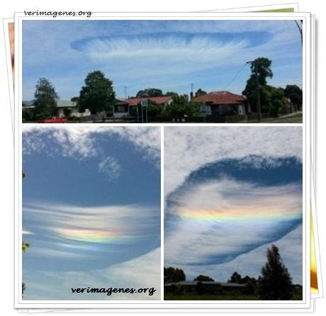 Imagen Arcoíris dentro de una nube.