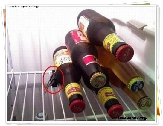 Solución para que no se te caigan las botellas en la nevera