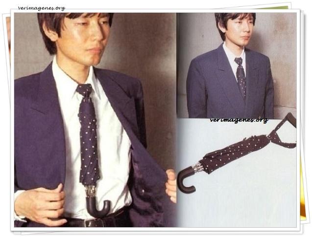 Corbata paraguas