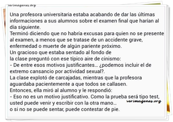 Una profesora universitaria