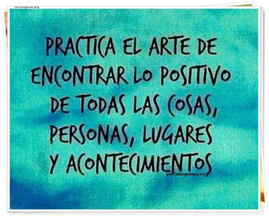 Practica el arte de encontrar lo positivo