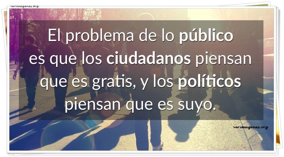 El problema de lo público