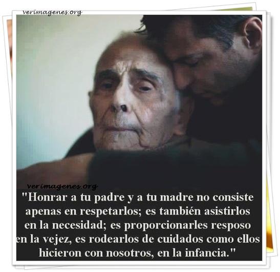 Honrar a tu padre y a tu madre no consiste apenas en respetarlos