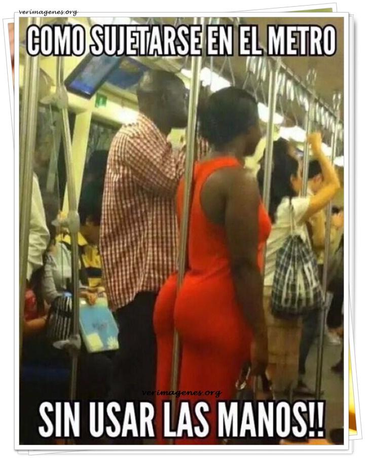 Como sujetarse en el metro