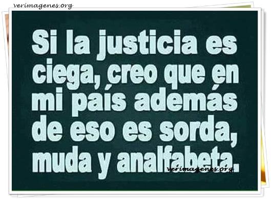 Si la justicia es ciega