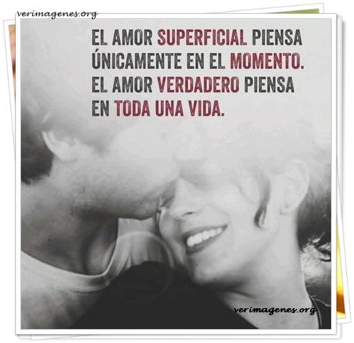 El amor superficial piensa únicamente en el momento