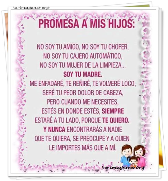 Promesa a mis hijos: