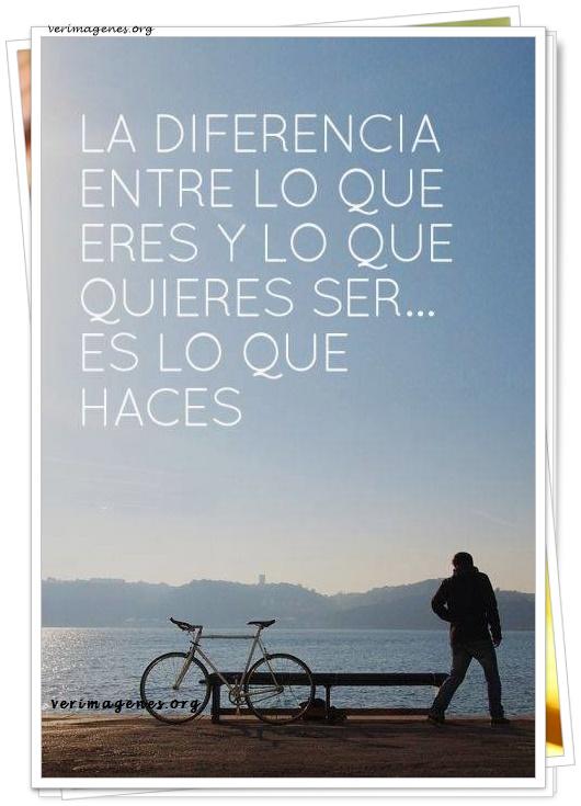 La diferencia entre lo que eres