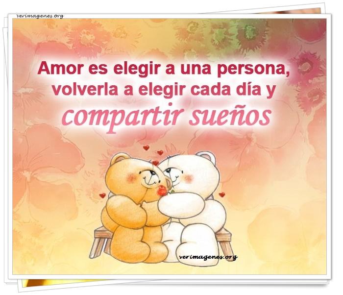 Amor es elegir a una persona