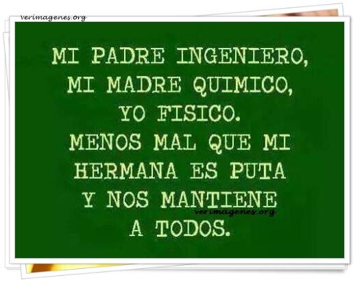 Imagen Mi padre ingeniero, mi madre químico