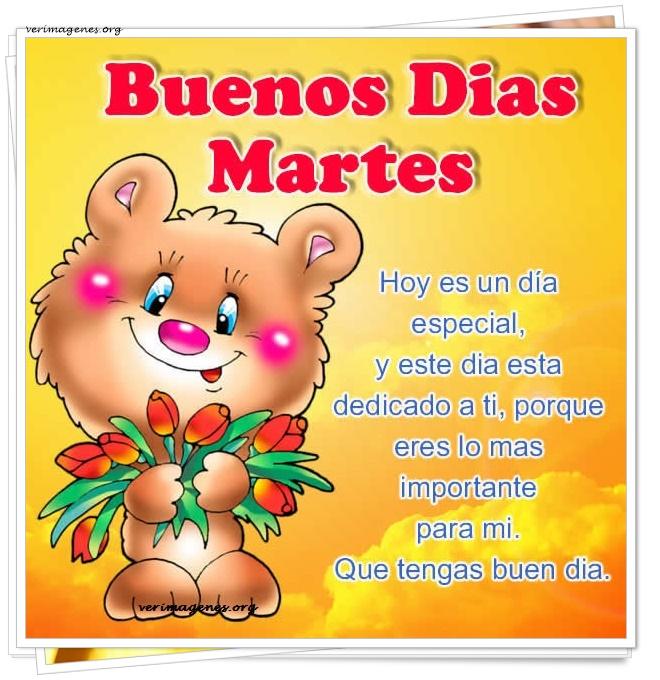 Imagenes De Buenos Días Martes Hoy Es Un Día Especial Y Este Día Est