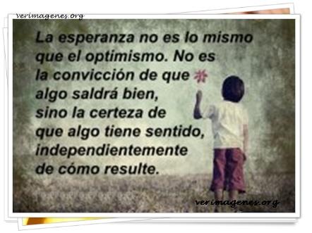 La esperanza no es lo mismo que el optimismo