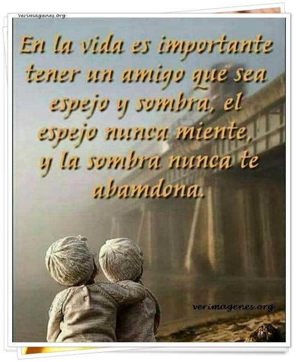 En la vida es importante tener un amigo