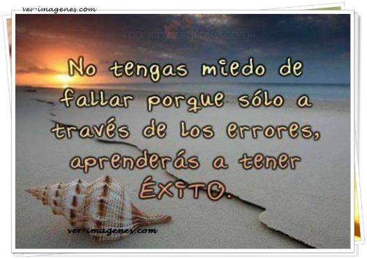 No tengas miedo de fallar