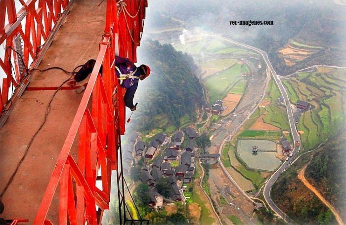 Pintando en las alturas