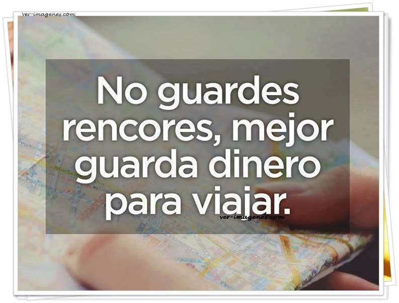 No guardes rencores