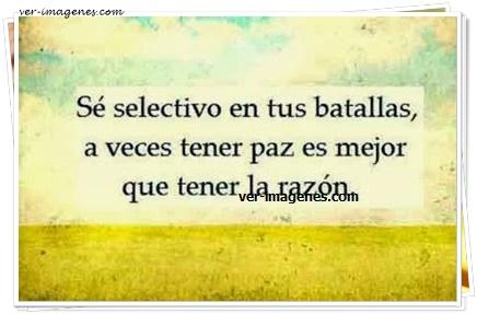 Sé selectivo en tus batallas