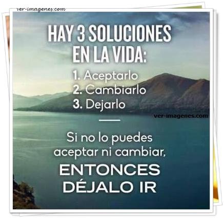 Hay 3 soluciones en la vida
