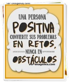 Una persona positiva