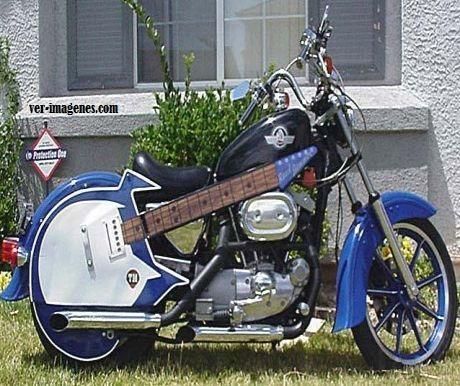 Motocicleta guitarra